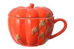 haloween pumpkin mug orange