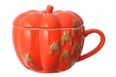 haloween pumpkin mug orange