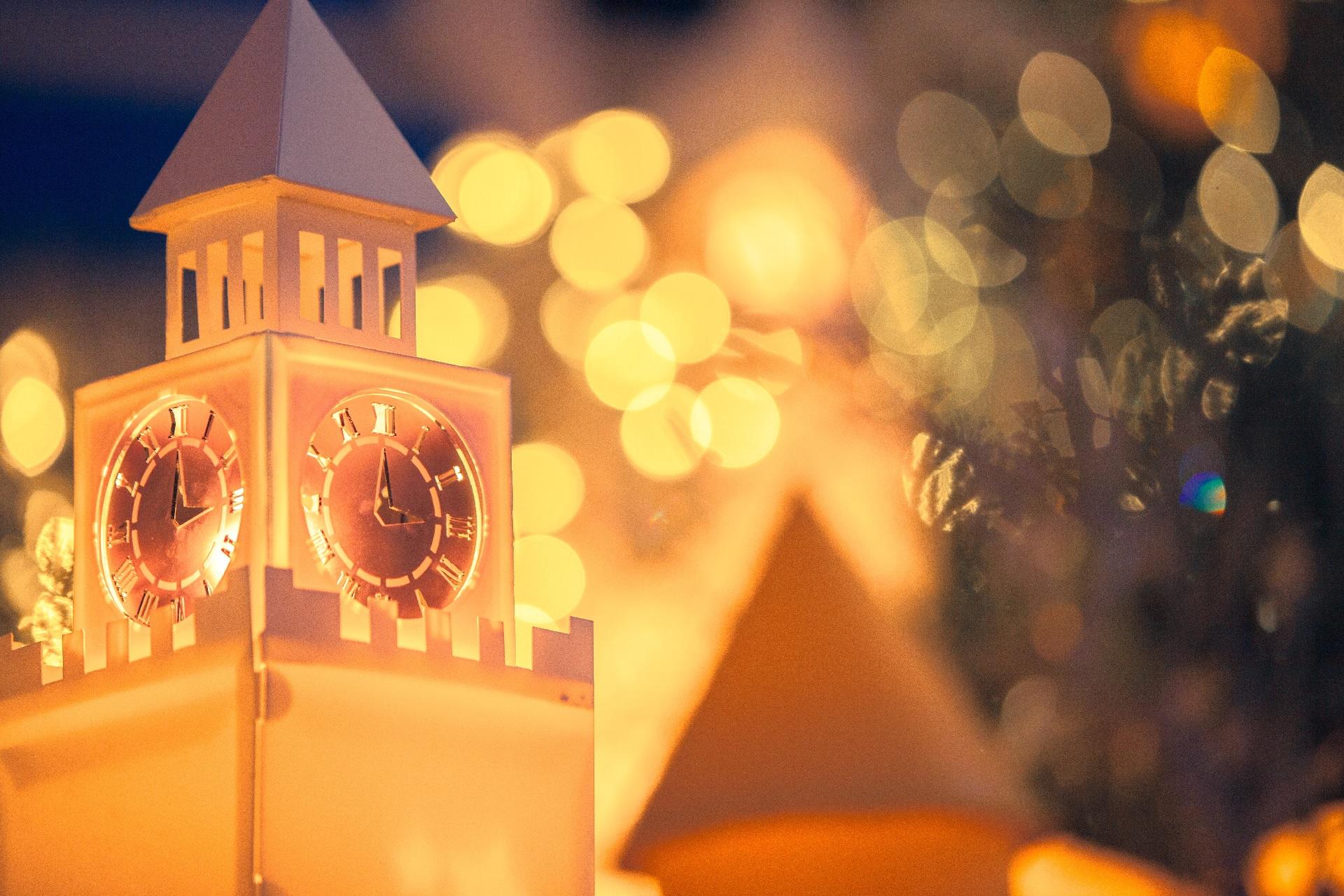 クリスマスの飾り(金の光)