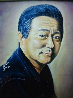 庄司哲郎が描いた小倉智昭さんの肖像画