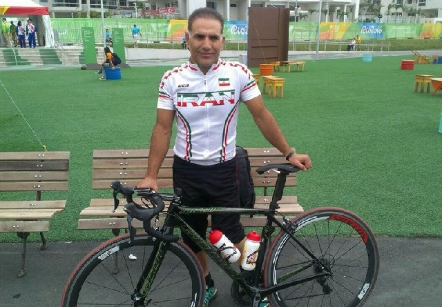 Bahman Golbamezhad with his bike