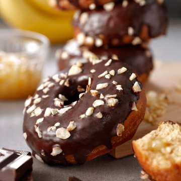 バナナクリームチョコレートドーナツ