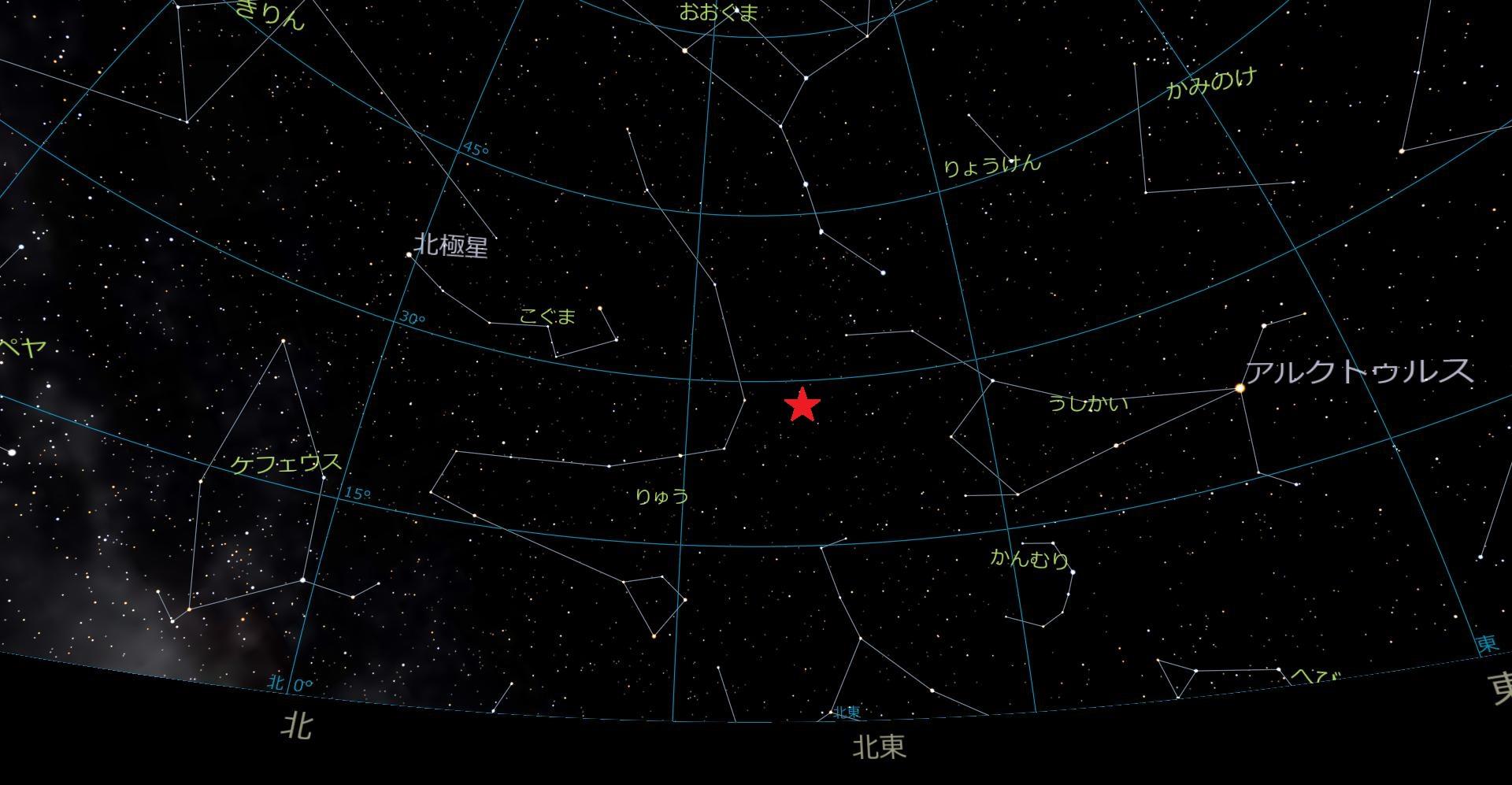 しぶんぎ座流星群 2017年1月4日 02:00 頃