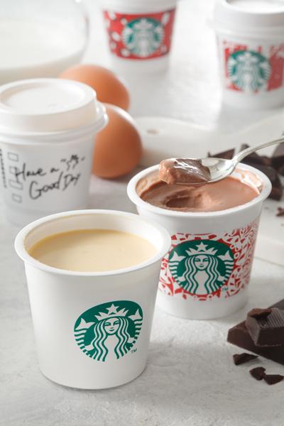 『ミルクカスタードプリン』と『チョコレートプリン』