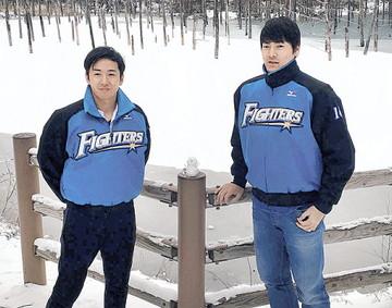 斎藤佑樹選手と有原航平選手
