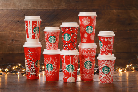 レッドカップ Starbucks Red Holiday Cups