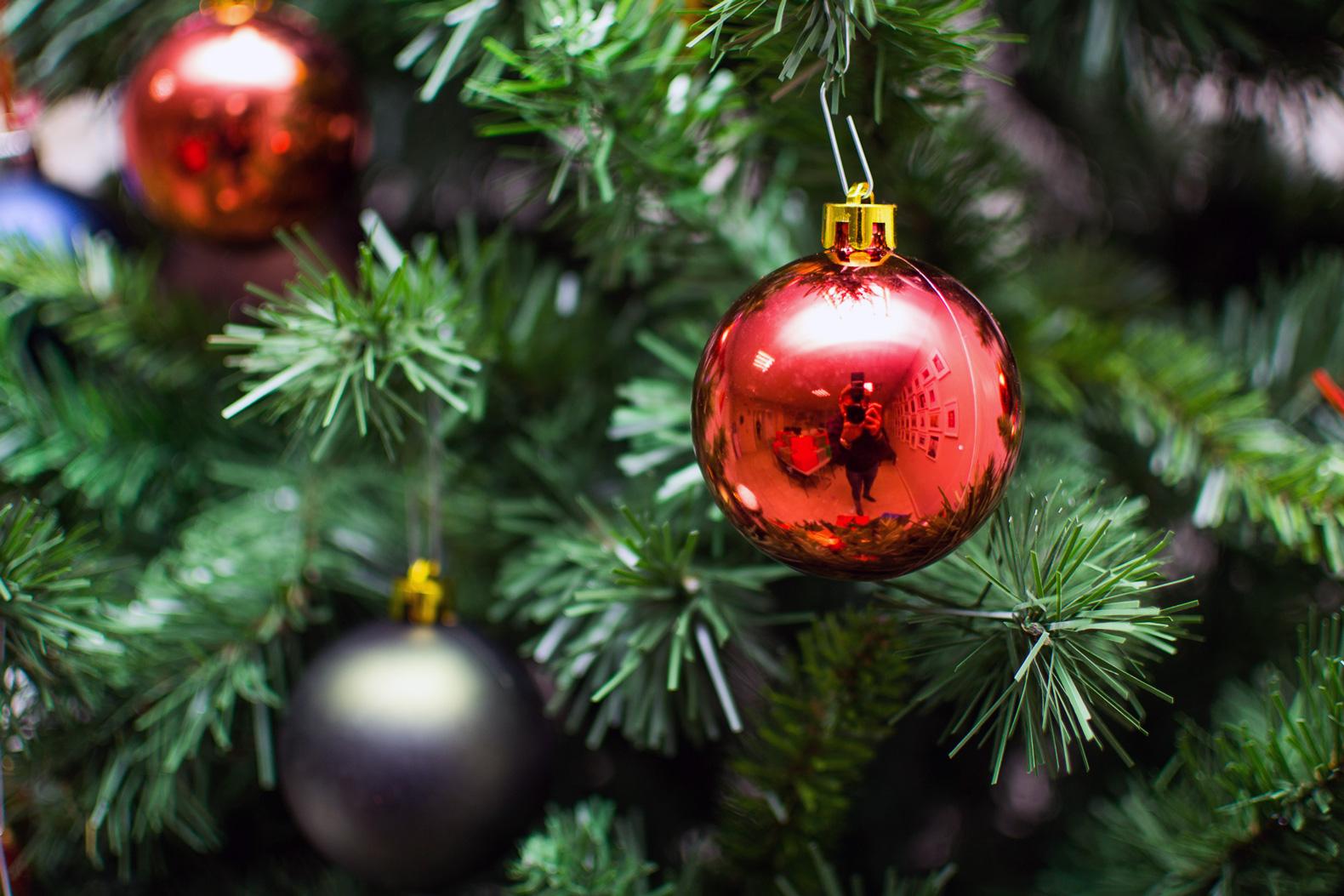 クリスマスツリーと玉