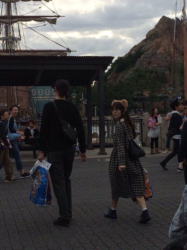 村田充さんと神田沙也加さん @TDS
