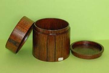 円筒の弁当箱(けやき)