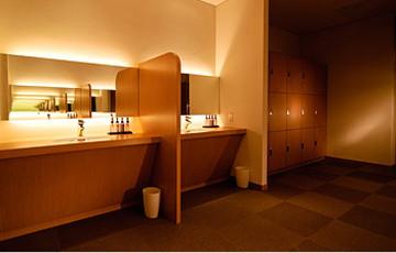 上高地ルミエスタホテルの脱衣室