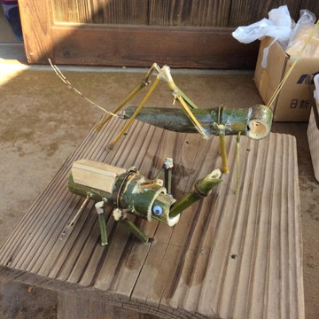 竹細工で作った昆虫