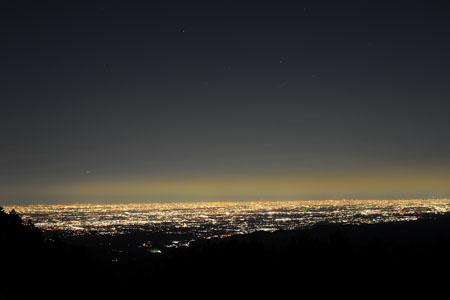 堂平山からの夜景