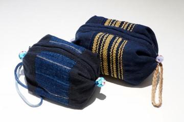 河内の伝統・河内木綿のポーチ