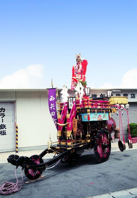 西矢田町の祭車