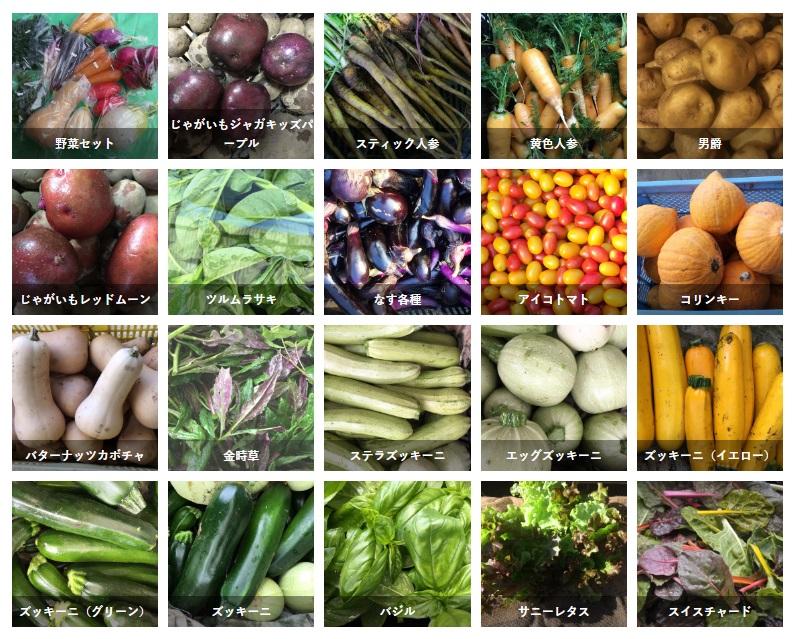 「はなまる農園」の野菜の数々