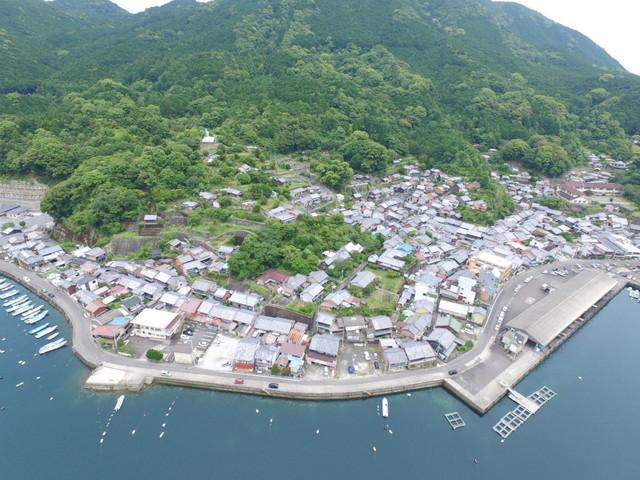 九鬼町の漁港