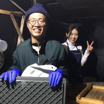 上田圭佑さんと橘麻衣さん