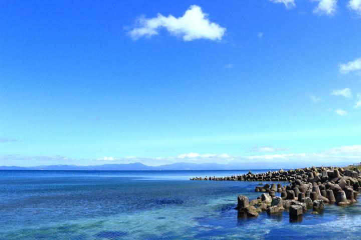 穏やかな陸奥湾